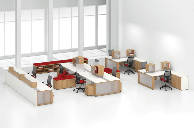 Workstations Benching Affordable Office Interiors
