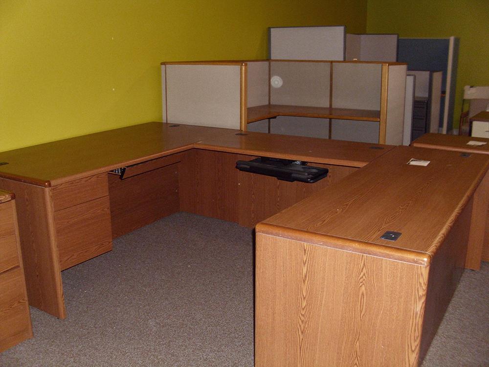 U Shape Desk Affordable Office Interiors