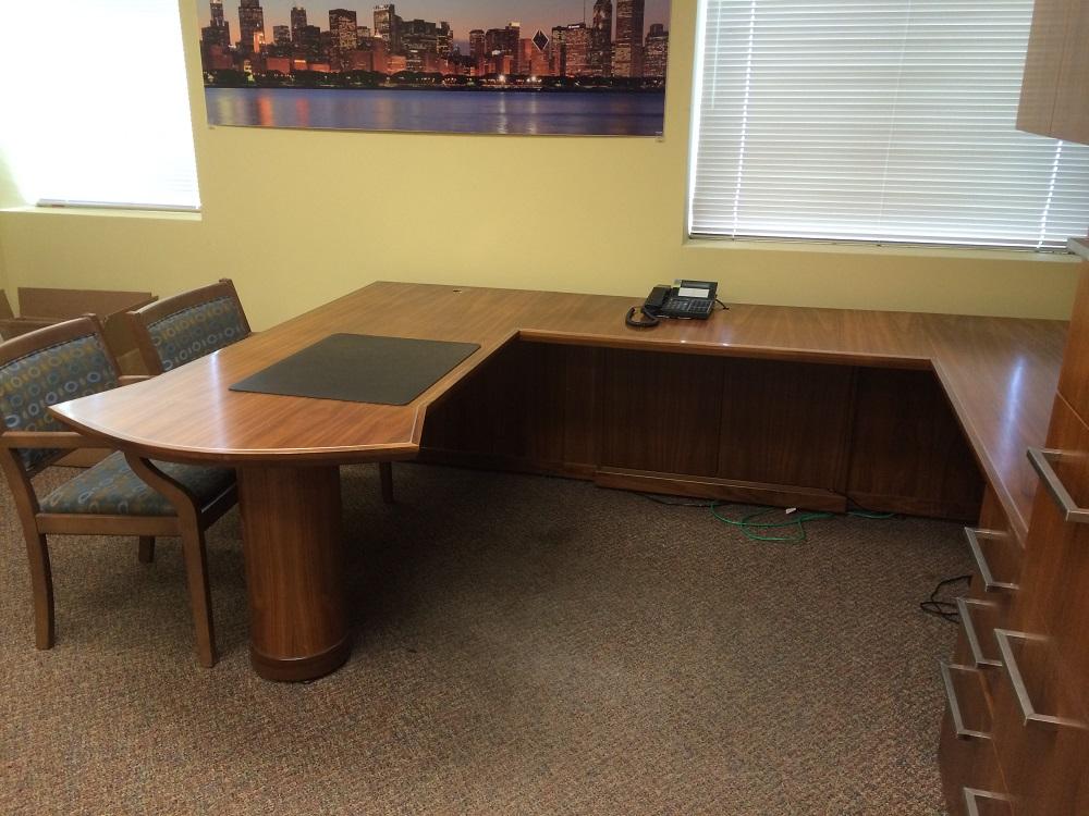 "Mobilia Custom ""U"" Shape Desk Unit"