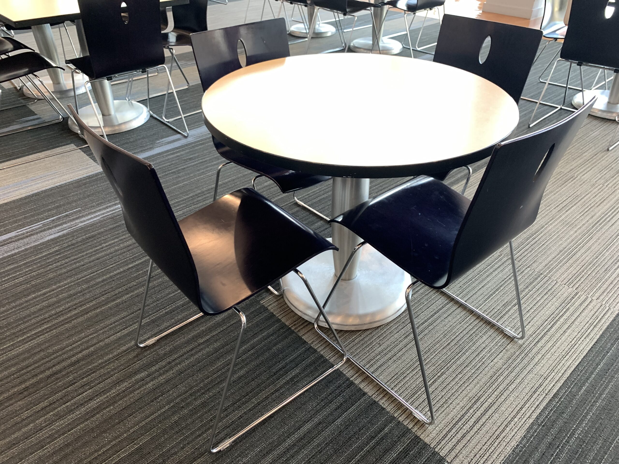 Agati Modern Dining Table Round 36 Affordable Office Interiors